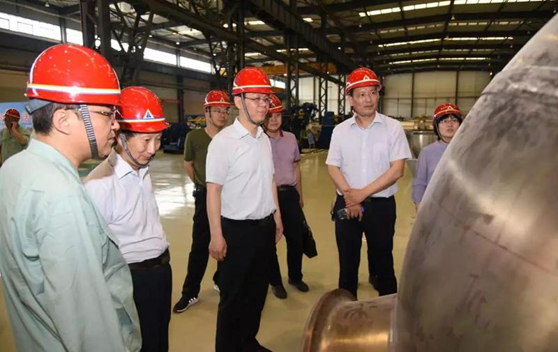 太原钢铁集团总经理高建兵一行来公司参观