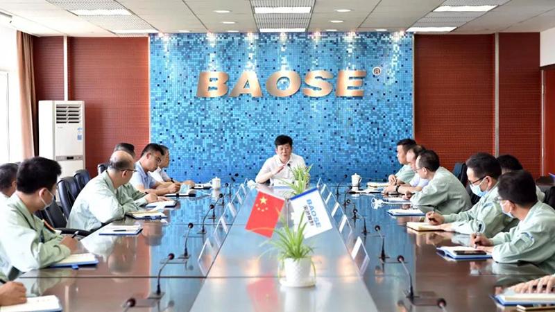 宝钛集团公司党委书记、董事长王文生到南京宝色股份公司调研指导工作